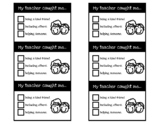 Positive Behavior Notes!