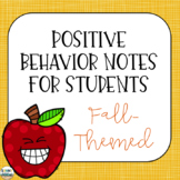 Positive Notes Home to Parents  Fall - Themed