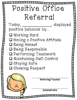 Positive Behavior/Office Referral