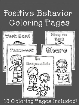 Positive Behavior Pbis Coloring Pages By School