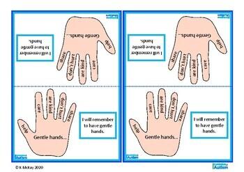 Autism Positive Behavior Gentle Hands, Special Education, Back to School