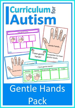 "Positive Behavior Pack ""Gentle Hands"", Visual Prompts, Re"