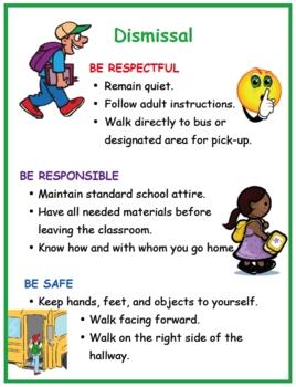 Positive Behavior Poster: Dismissal