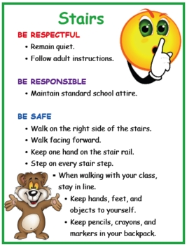 Positive Behavior Poster: Stairs