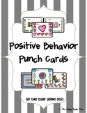 Positive Behavior Punch Cards: Bundled