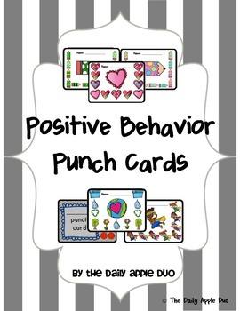 Positive Behavior Punch Cards: Bundled