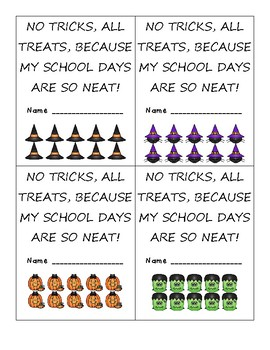 Positive Behavior Punch Cards - Halloween Themed - So Cute!