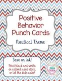 Positive Behavior Punch Cards Nautical Theme