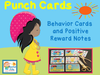 Positive Behavior Punch Cards and Reward Notes: Sunshine Theme