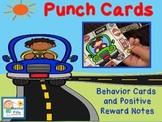Positive Behavior Punch Cards and Reward Notes: Kids Cars
