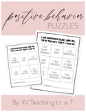 Positive Behavior Puzzles