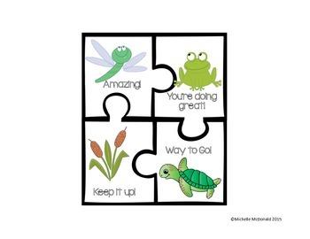 Positive Behavior Puzzles: behavior modification/reinforcement