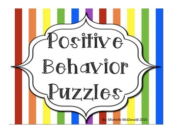 Positive Behavior Puzzles: behavior modification/reinforcement