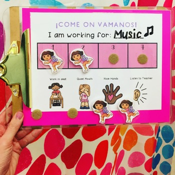 Positive Behavior Reinforcement Board: Dora the Explorer