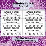 Positive Behavior Reinforcement Classroom Punch Cards (Editable!)