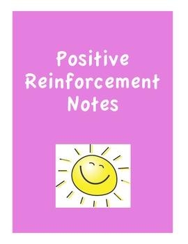 Positive Behavior Reinforcement Notes for Classroom Management