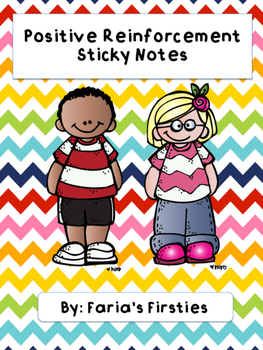 Positive Behavior Reinforcement Sticky Notes