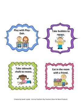 Positive Behavior Reward Cards Class Incentives