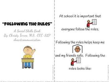 Positive Behavior Social Story for Children with Autism - Following the Rules