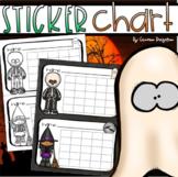Positive Behavior Sticker Chart Reward Incentives Halloween Fall Theme