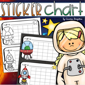 Personalize Cute Aliens In Space Bedtime Chart Print Instant Download! Reward Good Behavior Chart Progress