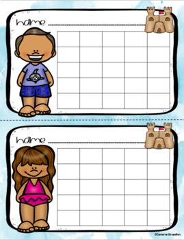 Positive Behavior Sticker Chart Reward Incentives Summer Vacation Break Theme