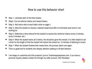 Positive Behavior Support Chart