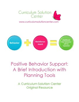 Positive Behavior Support: Introduction with Planning Tools {Incentive Plan}