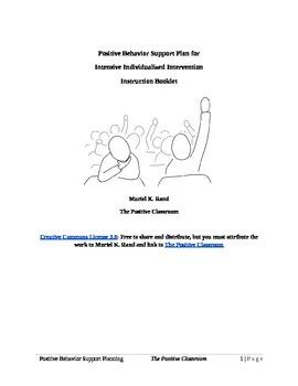 Positive Behavior Support Planning Booklet