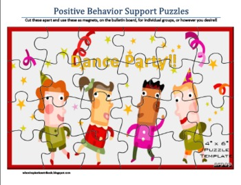 Positive Behavior Support Reward Puzzles