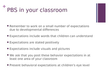 Positive Behavior Support for the Early Childhood Classroom