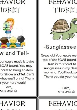 Positive Behavior Tickets