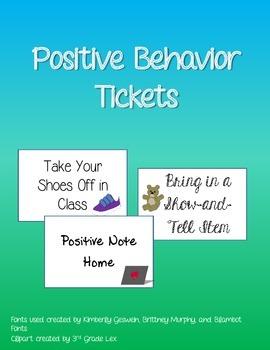 Positive Behavior Tickets