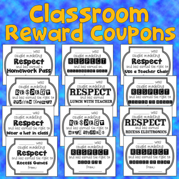 Positive Behavior Tickets Rewards Awards