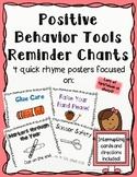 Positive Behavior Tools- Management Reminder Rhyme Posters