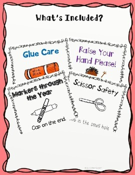 Positive Behavior Tools- Management Reminder Rhyme Posters