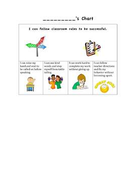Positive Behavior Visual Cue Card (can edit)