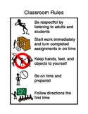 Positive Behavioral Intervention Support Classroom Rules
