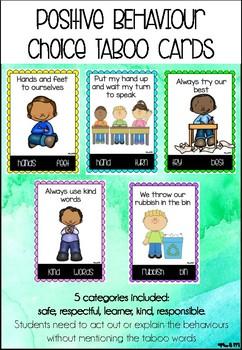Positive Behaviour Choices Taboo