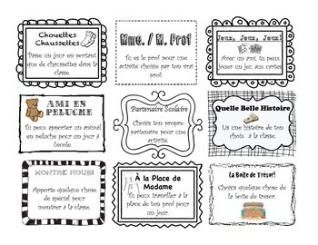 Positive Behaviour Coupons in French