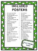 Positive Behaviour Expectation Posters: Includes over 40 printable posters GREEN