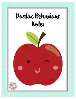 Positive Behaviour Notes   Behavior