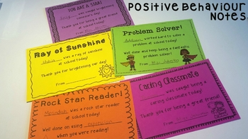 Positive Behaviour Notes #betterthanchocolate #luckydeals