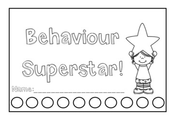 Positive Behaviour Punch Cards