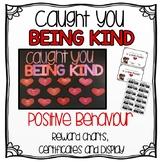 Positive Behaviour Reward Charts & Display Bulletin Board. Caught You Being Kind