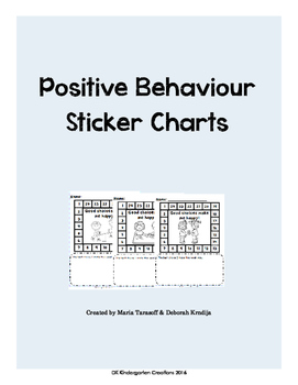 Positive Behaviour Sticker Charts - Full Product