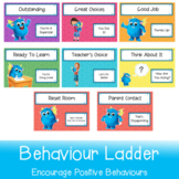 Positive Behaviours Ladder   Printable in A3 and A4 for wh