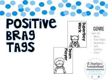 Positive Black and White Brag Tags