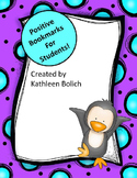 Positive Bookmarks For Students