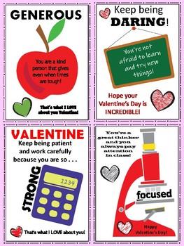 Positive Character Trait Valentine Cards